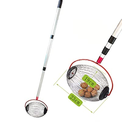 headytidy Nut Gatherer丨Garden Rolling Nut Walnuts Harvester丨Garden Retractable Aluminum Alloy Boom Picks Up Balls for Pecans, Crab Apples, Acorns, Hickory Nuts & Other Objects: Home & Kitchen