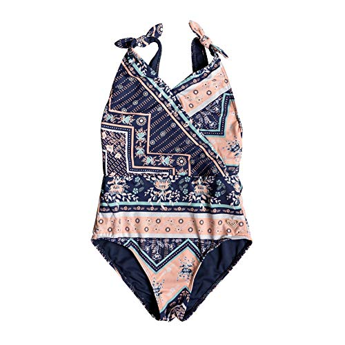 Roxy Heart in The Waves 1pc Girls Swimsuit Age 12 Med Blue
