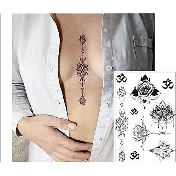 Geométrico de pecho Tattoo Boob Tattoo Breast Tattoo Flash Tattoo ...
