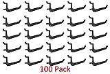 100 Pack Of JUMBO Pegboard Hooks Black Garage Tools Hammer Air Tool Storage Organization Jewelry
