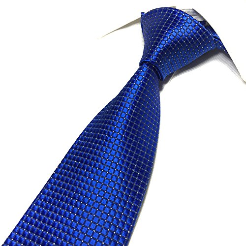 Mens Noble Royal Blue Ties Luxury Wedding Party Fashion Line Microfiber Neckties ()