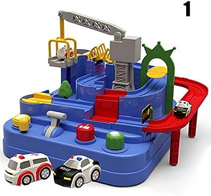 lzndeal RC Rail Car Toy Car Adventure Gioco Manipulative Rescue Squad Adventure Rail Car Model Giocattoli educativi da Corsa