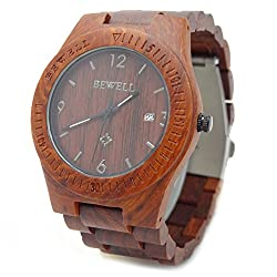 Handmade Wooden Watch Made with Natural Sandalwood in Red - HGW-102