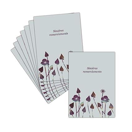 Tarjeta agradecimiento luto sobre fondo gris - 8 tarjetas ...