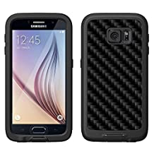 Skin Decal for LifeProof FRE Samsung Galaxy S6 Case - Carbon Fiber Black