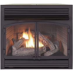 Duluth Forge Dual Fuel Vent Free Fireplace Insert - 32,000 BTU, Remote Control, FDF400RT-ZC