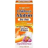 Children's Motrin Oral Suspension Dye-Free Berry, 4 Oz
