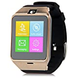 Padgene NFC Bluetooth V3.0 SmartWatch for Samsung S3 / S4 / S5 / Note 2 / Note 3 / Note 4, HTC one M8 / M9, Sony and other Android Smartphones, Gold