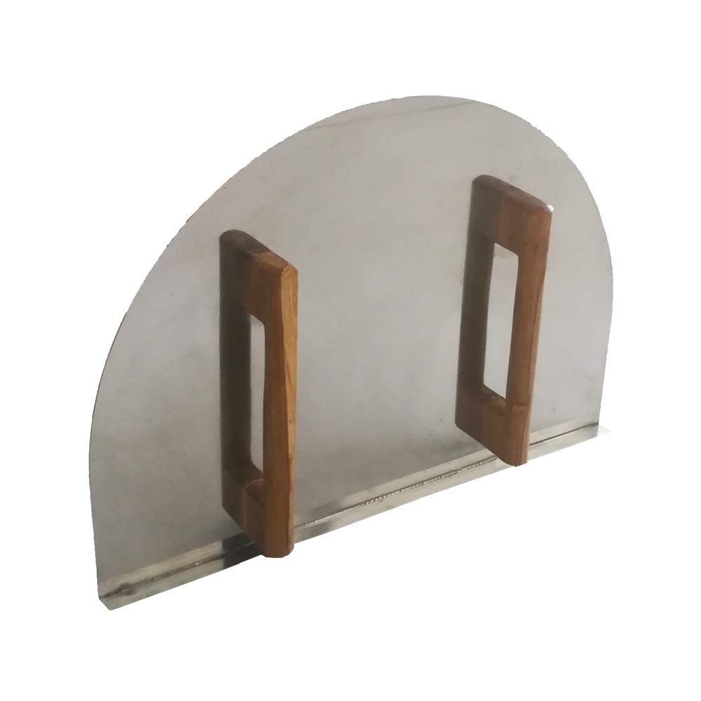 Simond store DIY Brick Pizza Oven Door-19.25''(H) X 27''(W) w/Wooden Handle by Simond store