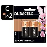 Duracell Pila Alcalina C, con tecnlogía Duralock, 2 piezas