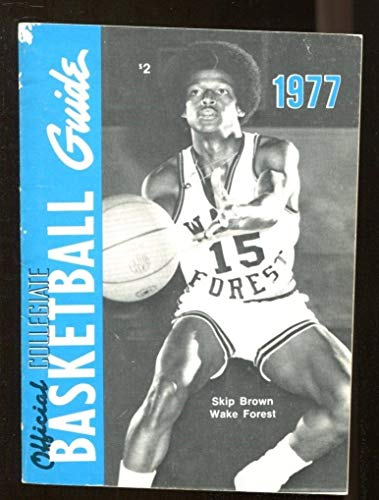1977 Official NCAA Collegiate Basketball Guide Skip Brown Wake Forest 44259 ()