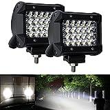 4 inch off road fog light - LED Light Bar 4inch 60W 7200M Spot Led Work Light Driving Lights Fog Lamp Offroad Lighting for Truck Jeep ATV UTV Wrangler SUV Dodge,Waterfroof 2 Year Warranty (2PCS)