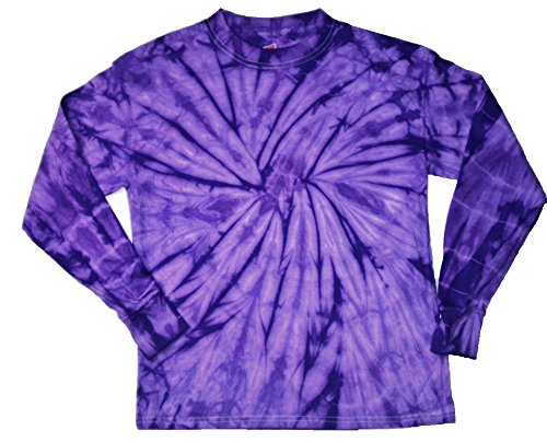- Gildan Tie Dye T-Shirts Spider Purple Long Sleeve Kids & Adult Size (Medium)