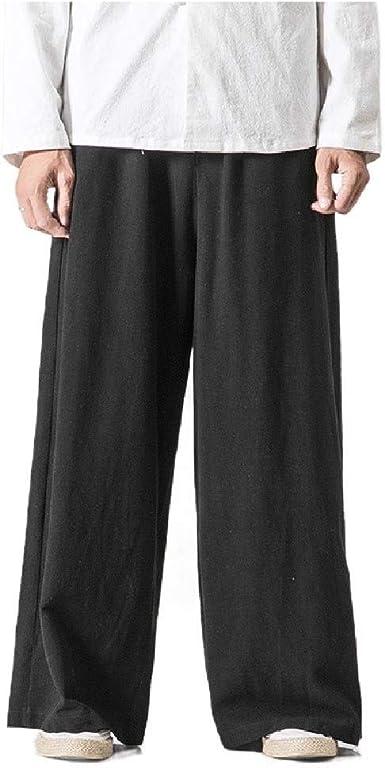 Doufine - Pantalones de algodón para Hombre, Estilo Folk, Estilo ...