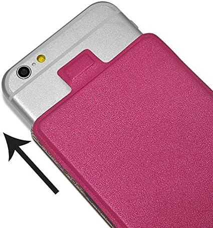 Seluxion-Funda con tapa S-View universal S color rosa para Carrefour Smart 4,5 4 g: Amazon.es: Electrónica