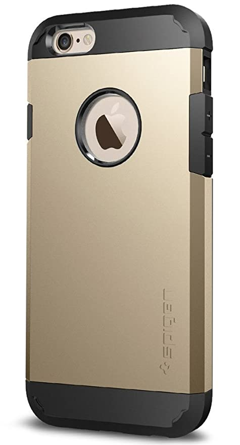 lowest price 6eb04 fa857 Spigen SGP11613 Tough Armor Case for iPhone 6S (Champagne Gold)