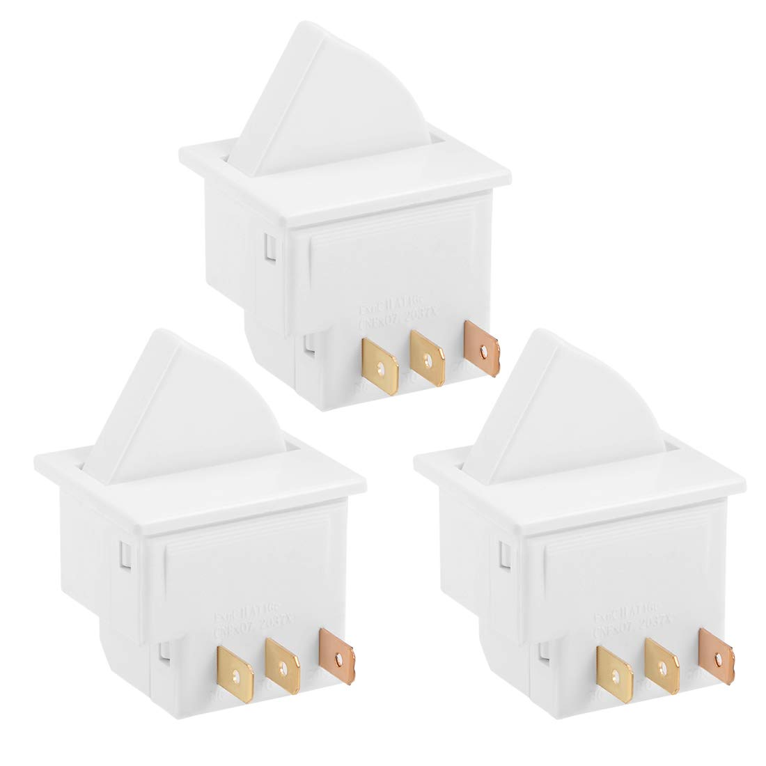 uxcell Refrigerator Door Light Switch Momentary Fridge Switches 1NC 1NO AC 250V 0.5A for LG Maytag Admiral 3pcs