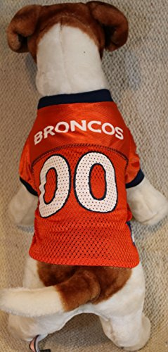 DENVER BRONCOS Dog Jersey ★ ALL SIZES ★ Licensed NFL (Large) (Denver Broncos Dog Costume)