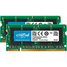Crucial 8GB Kit 4GBx2 DDR2 800MHz PC2-6400 CL6 SODIMM 200-Pin Notebook Memory Modules CT2KIT51264AC800