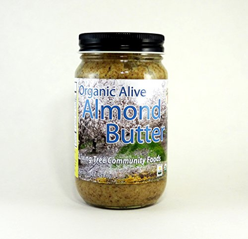 Almond Sugar Free Butter - Living Tree Alive Organic Almond Butter | No Added Sugar, Non-GMO - 16 Ounce