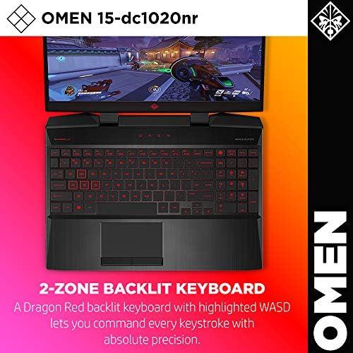 Omen by HP 2019 15-Inch Gaming Laptop, Intel i7-9750H Processor, NVIDIA GTX 1660Ti (6 GB), 8 GB RAM, 256 GB SSD, VR Ready, Windows 10 Home (15-dc1020nr, Black) 51SJx7qTa2L