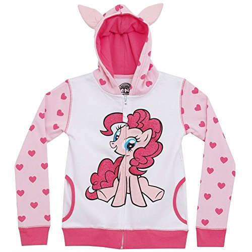 Rarity Equestria Girls Costume (My Little Pony Little Girls Pinkie Pie Heart Zip-Up Hoodie (Juvy Large/6X))