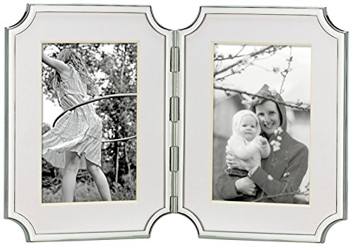 Kate Spade New York Sullivan Street Silver Hinged Double Invitation Photo Frame, 4