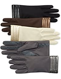 Women's Smartouch Spandex Glove with Metallic Hem Thermaflex Lining