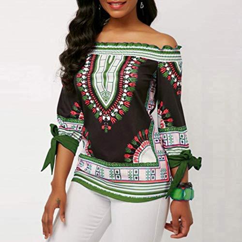 Verde Floral Floral de Calle Playa Shirt Dress Sonnena Irregulares y dobladas Estampado de Vintage Impresión de Camisetas 3 Larga Vestido Blusas Camisa Vestido Mujer Traje otoño Manga w4atq