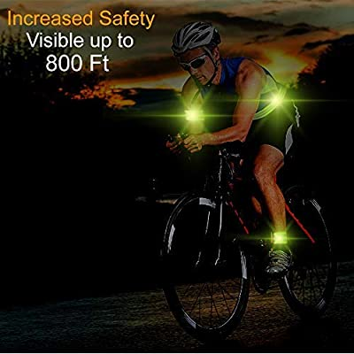 C-DON High Visibility Reflective Bands for Wrist Arm Ankle Leg Running Belt Reflective Gear for Men and Women Safety Reflective Straps Bracelets for Night Running Cycling Walking