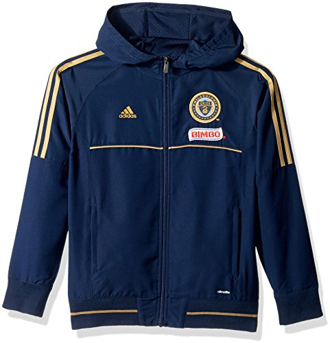 fan products of MLS Philadelphia Union Boys -Travel Jacket, Collegiate Navy, Small (8)