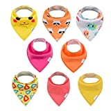 ALVABABY Bandana Drool Bibs for Drooling and Teething Absorbent 8 Pack Gift Set For Boys and Girls(8SD29)