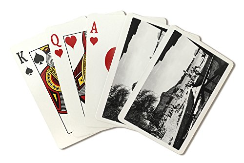 Hawaii - O'ahu Island; Diamond Head from Outrigger Canoe Club - Vintage Photograph (Playing Card Deck - 52 Card Poker Size with Jokers)