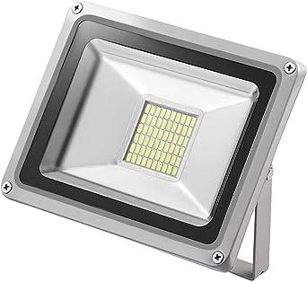 12V Foco LED, 30W 2400LM Blanco Frío 6000K Reflector Foco ...