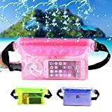 Waterproof Belt Bag- Waterproof Waist Bag- Travel Beach Swim Dry Bag Waterproof Surf Waist Pack Touch Screen Phone Camrea Storage Pouch - Blue (Waterproof Waist Pouch)