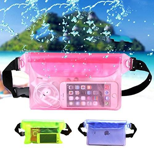 Waterproof Belt Bag- Waterproof Waist Bag- Travel Beach Swim Dry Bag Waterproof Surf Waist Pack Touch Screen Phone Camrea Storage Pouch - Blue (Waterproof Waist Pouch) by Unknown