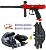 Tippmann Gryphon Paintball Marker Gun PowerPack 3Skull 4+1 Mega Set - Red