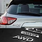 Dsycar 3D Metal AWD Logo Emblem Tailgate Side