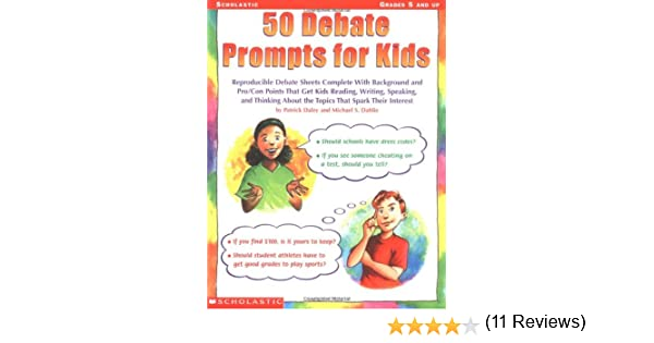 Amazon.com: 50 Debate Prompts for Kids: Reproducible Debate Sheets ...
