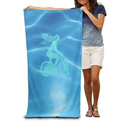 "Mermaid On A Bike 31.5""51""Pool Beach Towel"