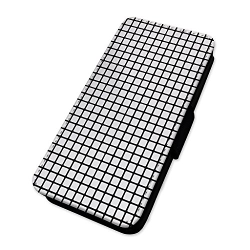 Minimalismo Squares Art modello–Flip cover in pelle copertura di carta Apple iPhone 4/4S