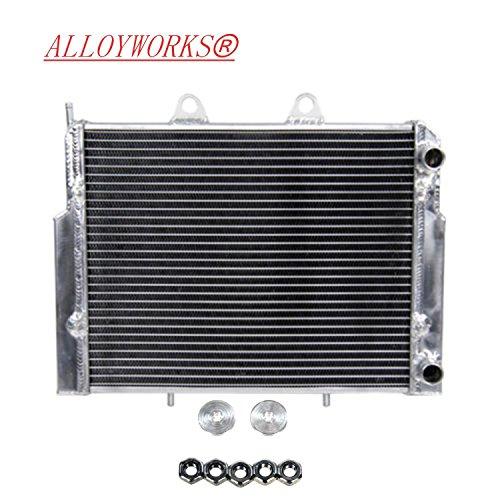 ALLOYWORKS 2 Row ATV Aluminum Radiator for Polaris RZR 800 RZR800S