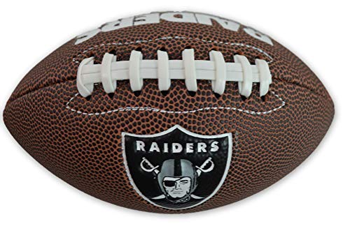 (Jarden Sports Licensing Official National Football League Fan Shop Authentic NFL AIR IT Out Youth Football. Great for Pick up Game with The Kids. (Oakland Raiders))