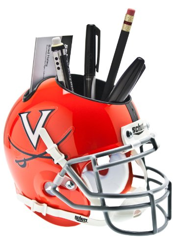 Virginia Cavaliers Team Helmet (NCAA Virginia Cavaliers Helmet Desk Caddy, Orange/Grey)