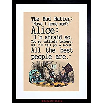 Amazon Com Dictionary Art Alice In Wonderland Quote