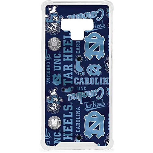 Skinit North Carolina Tar Heels Print Galaxy Note 9 Clear Case - Skinit Clear Case - Transparent Galaxy Note 9 Cover