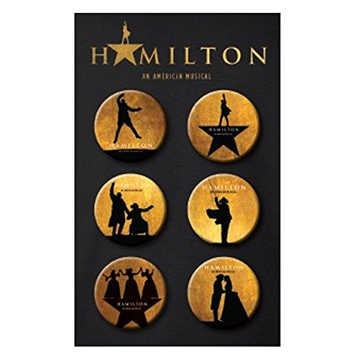 Official Hamilton An American Musical Silhouette Button