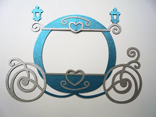 1 Frame Princess Party Photo Booth Props Princess Carriage 46.5 X 42.5 by picwrap