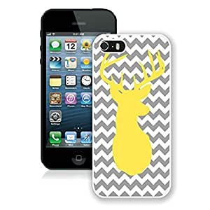 Fashion Style Chevron Iphone 5S Protective Cover Case Christmas Deer iPhone 5 5S TPU Case 3 White