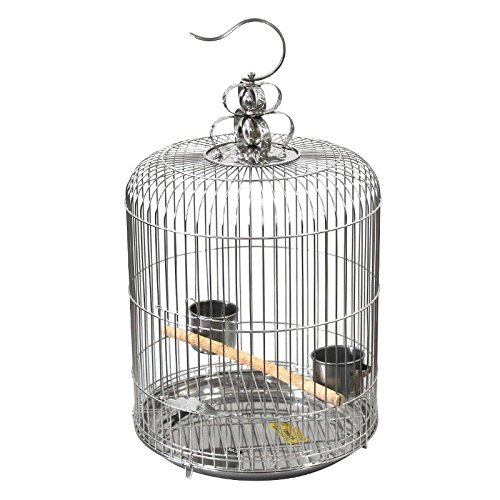 L Pet Online Birdcage stainless steel circular viewing cage ultra-fine pitch 1.2cm suitable for all small bird SERIES L